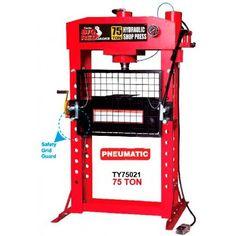 Műhelyprés pneumatikus- hidraulikus 75t, Big Red