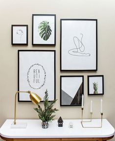 5 Aligned Clever Hacks: Vintage Home Decor Diy Wooden Signs vintage home decor interior design.Vintage Home Decor Bathroom Joanna Gaines vintage home decor inspiration joanna gaines.Vintage Home Decor Chic French Country. Modern Gallery Wall, Gallery Wall Layout, Art Gallery, Kitchen Gallery Wall, Gallery Wall Bedroom, Inspiration Wand, Home Decor Inspiration, Deco Studio, Décor Antique
