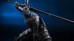 Taking large things out of a big box isn't easy, and we nearly broke this insanely-detailed Artorias of Abyss model. Dark Souls Armor, Dark Souls 3, Dark Souls Artorias, Black Panther Art, Bloodborne, Soul Art, Knight, Concept Art, February 10