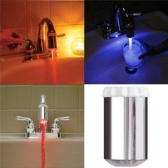 EWS!New Temperature Controlled Faucet Light Auto Change water Color By Temperature #Affiliate