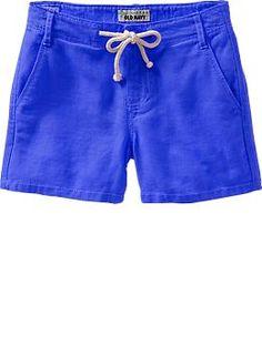 Girls Linen-Blend Shorts | Old Navy