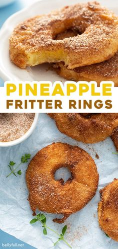 Pineapple Recipes, Fruit Recipes, Dessert Recipes, Cooking Recipes, Köstliche Desserts, Delicious Desserts, Yummy Food, Pineapple Fritters, Donut Shop