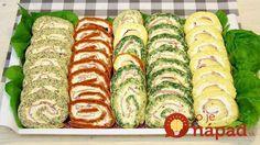 4 slané rolády z jednej várky: Chcete perfektné predjedlo na veľkonočný stôl? Vyskúšajte farebné rolády!