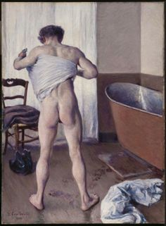 Gustave Caillebotte, Man at His Bath Man Drying Himself, 1884.