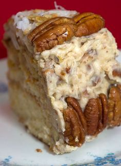 ***For years, my Mom has always made one of the most amazing Italian Cream Cakes...Itisspectacular! It's filled with pecans and flaked ...