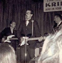Buddy Holly - last photo - Waylon Jennings at left on bass (Feb 2, 1959)