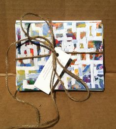 Set of 10 abstract art notecards by lindsaycowles on Etsy, $25.00