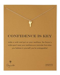 Gold-Dipped Confidence is Key Necklace - cute
