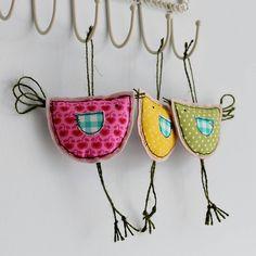 spring hanging birdy decoration by honeypips | notonthehighstreet.com