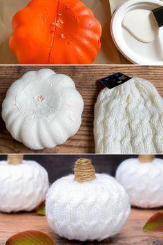 Foam Pumpkins, Dollar Tree Pumpkins, Dollar Tree Fall, Dollar Tree Decor, Dollar Tree Crafts, Dollar Tree Halloween Decor, Fabric Pumpkins, Fixer Upper, Store Fabric