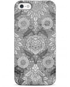 Черно-белый цветочный ретро принт - iPhone 5 / 5S / 5C Дизайнерские чехлы для iPhone