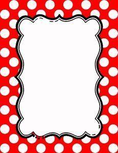 Free Polka Dot Border Templates in 16 Colors Minnie Mouse Template, Red Minnie Mouse, Borders For Paper, Borders And Frames, Polka Dot Classroom, Printable Frames, Printable Labels, Boarder Designs, Border Templates