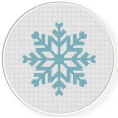 Snow Flake Cross Stitch Illustration