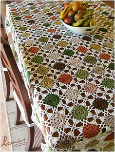 Ravelry: AnaBC's Autumn Dots Tablecloth