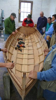What a work of art ~ so much beauty in her gentle curves!  Wooden boat school in Brooklin, Maine