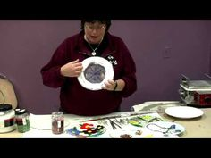 Fusing: How to Make Fused Glass Frit Plates - YouTube