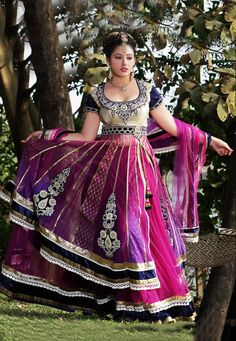 Dark Pink Net Lehenga Choli with Dupatta Online Shopping: SLLKM7