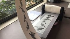 This is a printmaking demonstration using a longer bed on the XPress machine. Clear Acrylic Sheet, Acrylic Sheets, Pasta Machine, Great Inventions, Craft Shop, How To Make Bed, Letterpress, Printmaking, Toddler Bed