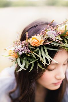 Young, wild & free: http://www.stylemepretty.com/2015/06/03/20-bridal-flower-crowns-we-love/
