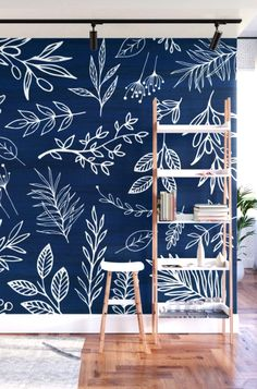 Nature themed wall murals designed by Kristian Gallagher for Modern Tropical. Bedroom Wall Designs, Bedroom Murals, Bedroom Decor, Wall Painting Decor, Mural Wall Art, Wall Decor, Decoration Inspiration, Design Inspiration, Modern Tropical