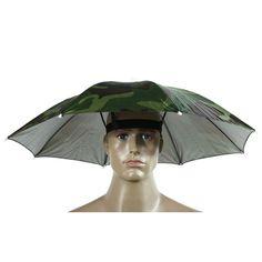 Fashion Multicolor Umbrella Hat Foldable HandsFree Parasol Umbrella Hat Cap For Beach Fishing Hands Camping Sun Rain Headwear