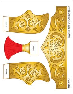 Free printable black-and-white and colored templates for making an easy wearable paper pharaoh headdress. Templates Printable Free, Free Printables, Roman Soldier Costume, Tattoo Roman, Royal Paper, Egypt Crafts, Nativity Costumes, King And Queen Crowns, Roman Helmet