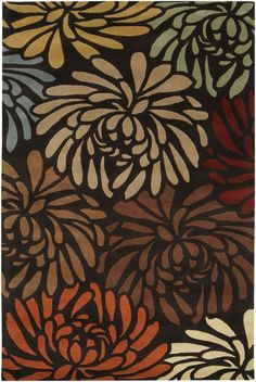 Surya Universal Chocolate Brown Floral Rug (UNI-1001)