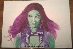 "Gamora dal film ""Guardiani della Galassia"". #gamora #guardiansofthegalaxy #zoesaldana #marvel #movie"