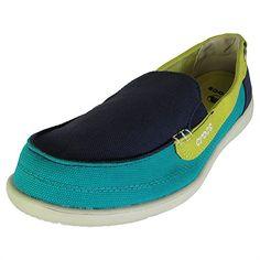 e259c2912351b Crocs Womens Walu Canvas Loafer Slip On Shoe