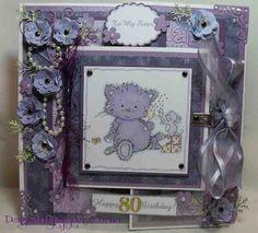 Spyder's Corner: A Purple Rinse? No Just an 80th Birthday Card!