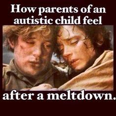 How parents of an autistic child feel after a meltdown #Autism #meltdown #SamAndFrodo