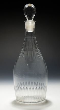 5082 An 'Indian Club' decanter with Cut Decoration — Georgian Decanters 1680 -1830 — Butlers Antiques