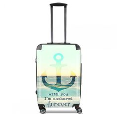ANCHORED FOREVER  Valise Ton Ancre pour toujours cabine trolley   by Monika Strigel  95 €  #trolley #cabinetrolley #koffer #handgepäck #reisekoffer #kabinenkoffer #girlsontour #luggage #baggage #rolls #rollenkoffer