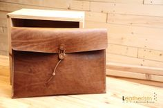 Hand Stitched Brown Color Mac Air 133 Case Cowhide by Leatherism, $160.00
