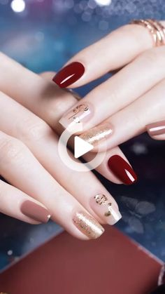 Beauty inspiring nail art designs for short nails 1 – wonders style Cute Acrylic Nails, Acrylic Nail Designs, Cute Nails, Pretty Nails, Nail Art Designs, Nails Design, Gelish Nails, Red Nails, Swag Nails