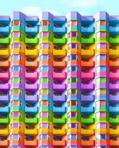Bewitching Pictures of Colorized Buildings – color of life Neon Colors, Rainbow Colors, All The Colors, Vivid Colors, Taste The Rainbow, Over The Rainbow, Rainbow Things, World Of Color, Color Of Life