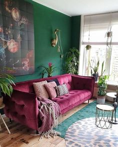 30 Best Sofas to Give Statement for Your Bohemian Home Style Bohemian interior design offers you some elements which is cultural, full of life, and aesthetically interesting. Bohemian designs also Bohemian Interior Design, Interior Design Living Room, Living Room Designs, Bohemian Decor, Room Interior, Dark Bohemian, Bohemian Homes, Purple Interior, Vintage Bohemian
