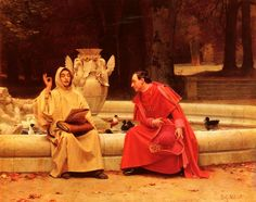 Anti-Clerical Art:'A Fine Point' by Jehan Georges Vibert. Note the direction of the cardinal's gaze and the sculpture to the young monk's right.