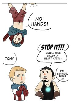 • Spiderman iron man tony stark Captain America Steve Rogers peter parker avengers Silly Stony ilegzz •