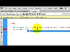 Php Tutorial Multidimensional array using nested foreach loop example