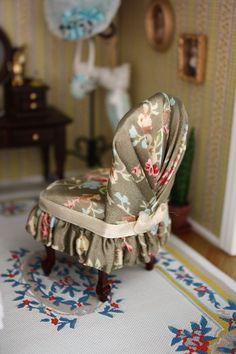 how to :slip cover for mini chair + förstoringsglas, täckt bord o m.m