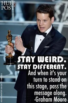 Graham Moore just gave the most inspiring Oscars acceptance speech