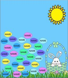 Your students will enjoy picking on their names and watching them disappear with this Easter egg Smartboard attendance page. I have also includ...