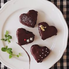 Fluffy Heart-shaped Chocolate Cakes - a great dessert for your loved ones.