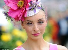 Pretty in pink  Miss World Australia Alex Hecker opted for a floral  fascinator… Floral b622fb09ae1