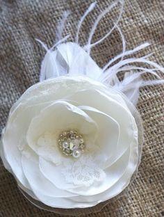 Ivory Bridal Hair Accessory Flower