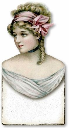 Item 3177 Vintage Victorian Style Jewelry Bust Plaqu            print add wood and stand it may work