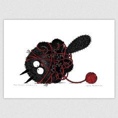 Musti Karvapallo-Lankakerä by Hukkatuotanto