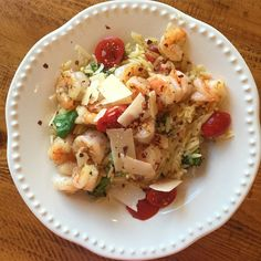 One pot pasta. Sauté shrimp in butter and garlic. In same pan add/bring to boil two cans of chicken broth along with half cup water and add one box of orzo. When pasta is done Add tomatoes, parm, fresh basil, broccoli, lemon juice, and season to taste cover for a few to steam broccoli.. #yum #familymeals #easydinners #onepot