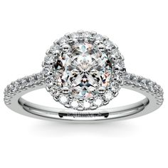 Halo Diamond Engagement Ring in White Gold https://www.brilliance.com/engagement-rings/halo-diamond-ring-white-gold